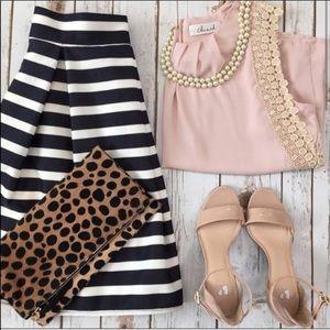 Chicwish Midi Striped Skirt